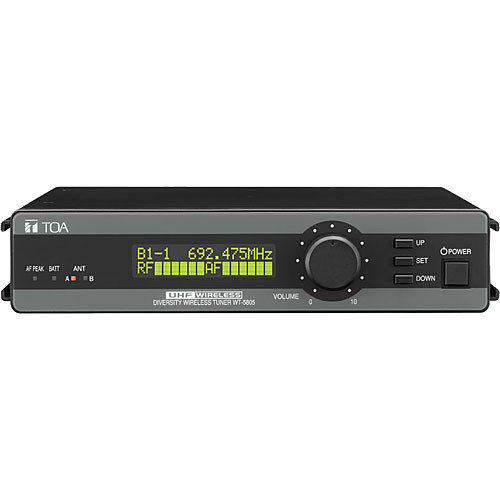 Toa Electronics WT-5805 Wireless 64-Channel UHF Space-Diversity Receiver (Band F01: 636 to 666)