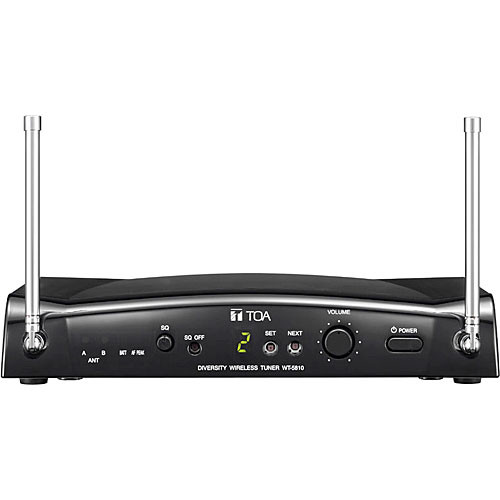 Toa Electronics WT-5810 F01US Portable Space Diversity 16-Channel Wireless Tuner