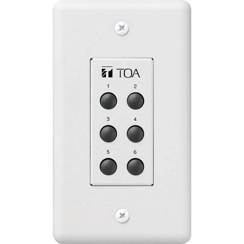 Toa Electronics ZM-9001 - 6-Switch Remote Panel for 9000 Series