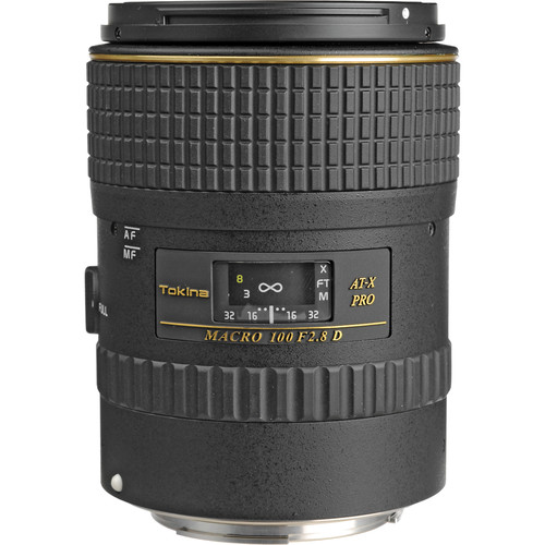 Tokina 100mm f/2.8 AT-X M100 AF Pro D Macro Autofocus Lens for Canon EOS
