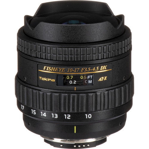 Tokina 10-17mm f/3.5-4.5 AT-X 107 DX AF Fisheye Lens for Nikon F