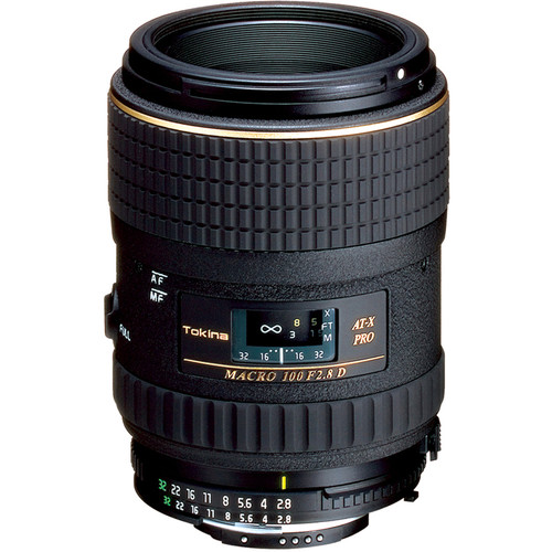 Tokina 100mm f/2.8 AT-X M100 AF Pro D Macro Autofocus Lens for Nikon AF-D