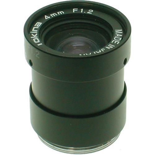 """Tokina TC0412NI 1/3"""" CCTV Lens (Fixed Iris, 4mm, CS Mount)"""