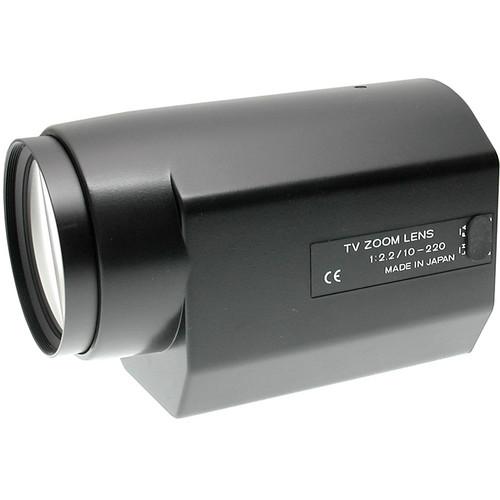 "Tokina 1/2"" C Mount 10-220mm f/2.2 Auto Iris Motorized Zoom Lens (w/Preset)"