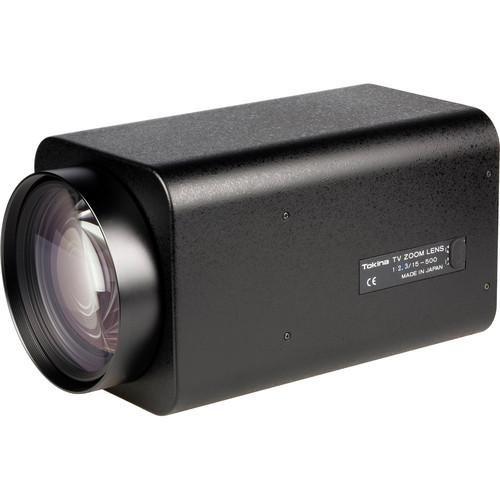 "Tokina 1/2"" C Mount 15-500mm f/2.3 Auto Iris Motorized Zoom Lens w/Preset"