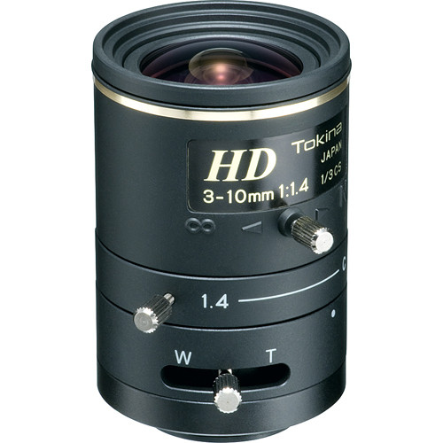 "Tokina TVR0314HD 1/3"" Megapixel Manual Iris Lens (3-10mm)"