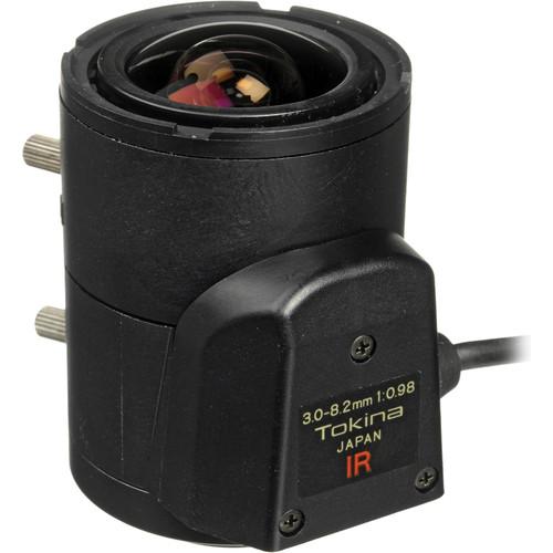 """Tokina TVR0398DC-IR 1/3"""" CCTV Lens (IR Corrected, 3-8.2mm, CS Mount)"""