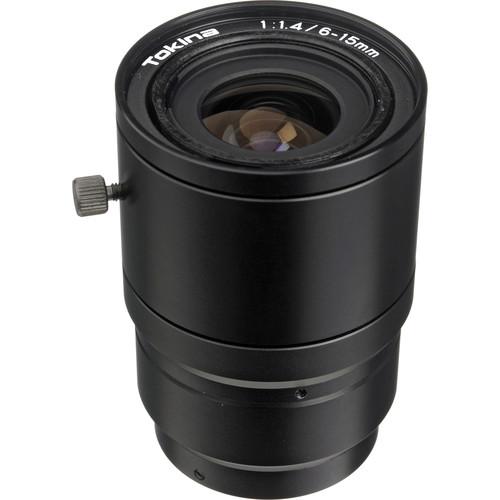 """Tokina TVR0614 1/2"""" C Mount 6-15mm f/1.4 Manual Iris Varifocal Lens"""