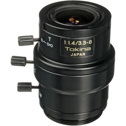 """Tokina TVR3314 1/3"""" Varifocal CCTV Lens (3.3-8mm, Manual Iris, CS Mount)"""