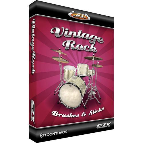 Toontrack Vintage Rock-Brushes and Sticks EZX - Expansion Pack for EZ-Drummer Plug-In Virtual Drum Module