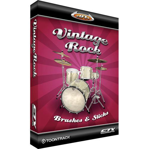 Toontrack Vintage Rock-Brushes and Sticks EZX Expansion Pack for EZ-Drummer