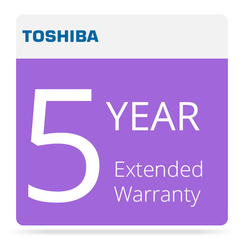 Toshiba 5 Year Extended Warranty Program for Surveillix Recording Products