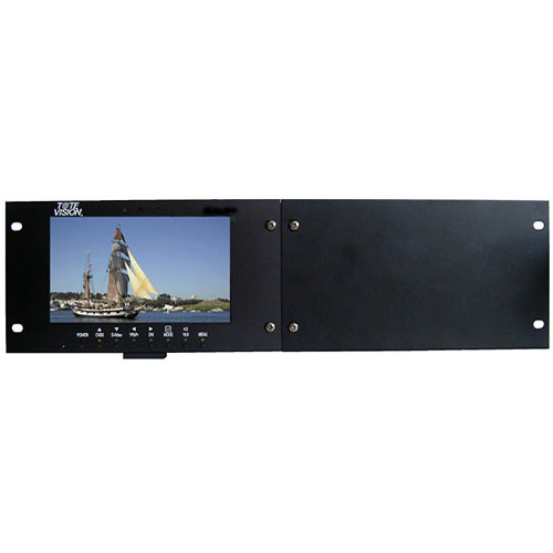 """Tote Vision LCD-703HD1 7"""" LCD Rackmount System with LED Backlight"""