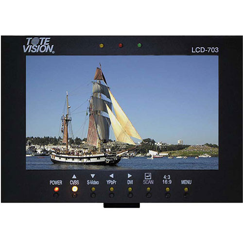 """Tote Vision LCD-703HD2 7"""" Dual LCD Rackmount System"""