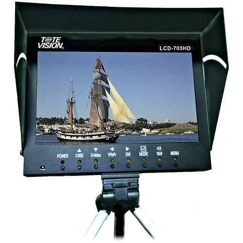 "Tote Vision LCD-703HDA 7"" LCD Field Monitor with Anton Bauer Gold Mount"
