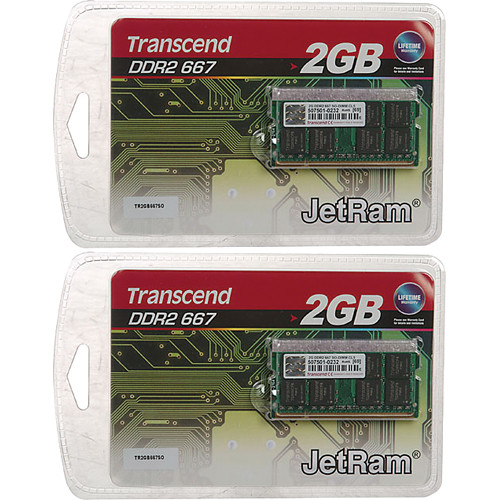 Transcend 4GB (2x2GB) SO-DIMM Upgrade Kit for Notebook