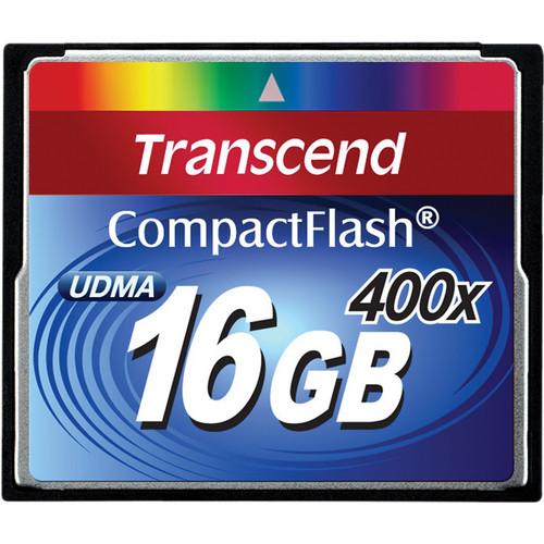Transcend 16GB CompactFlash Memory Card 400x UDMA