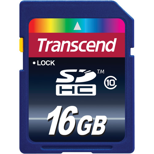 Transcend 16GB SDHC Memory Card Class 10