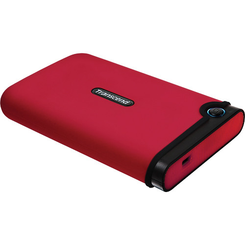 Transcend 500GB StoreJet 25M Portable Hard Drive (Red)