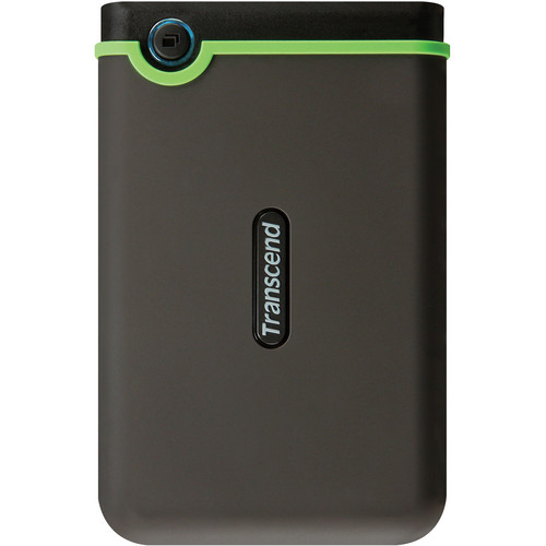 Transcend 750GB StoreJet 25M3 External Hard Drive (Green)