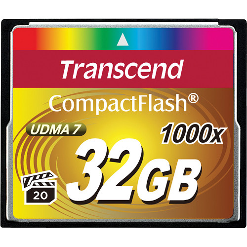 Transcend 32GB CompactFlash Memory Card Ultimate 1000x UDMA