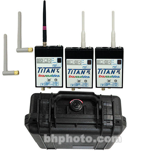 Transvideo Titan Wireless Video Duo Set 1 - Two Receivers, One Transmitter,  Microwave, Hirose and Lemo Connectors