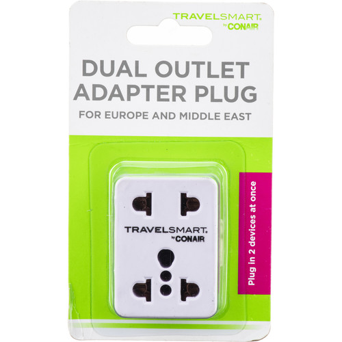 Travel Smart by Conair NWD1 Dual Outlet Adapter Plug