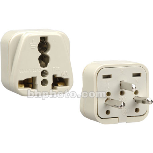Travel Smart by Conair Adapter Plug NWG12C - Allows Grounded 3-Prong USA Devices to be used with Grounded 3-Prong Power Supplies in Israel & Egypt
