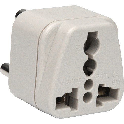 Travel Smart by Conair NWG-14C Grounded Adapter Plug USA to India/Hong Kong