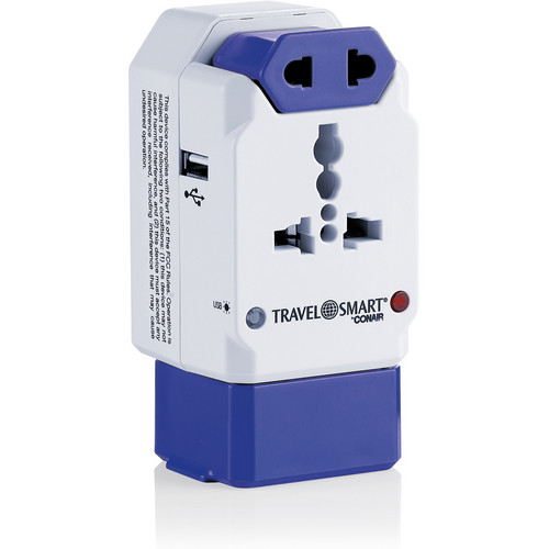 Travel Smart by Conair TS238AP All-in-One Adapter Plug with USB Port