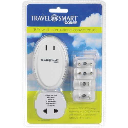 Travel Smart by Conair 1875W International Converter Set with 5 Adapter Plugs