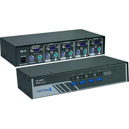 TRENDnet 4-Port Rackmount PS/2 KVM Switch
