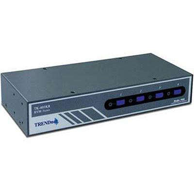TRENDnet 4-Port Audio KVM Switch - VGA, PS/2