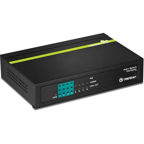 TRENDnet TPE-TG44G 8-Port Gigabit GREENnet PoE+ Switch