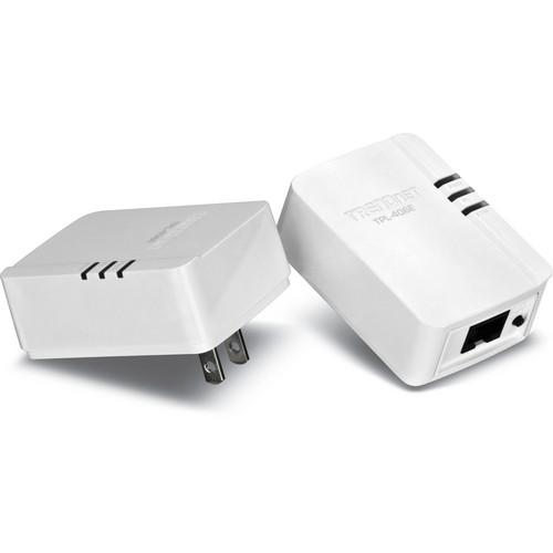 TRENDnet TPL-406E2K 500Mbps Compact Powerline AV Adapter Kit