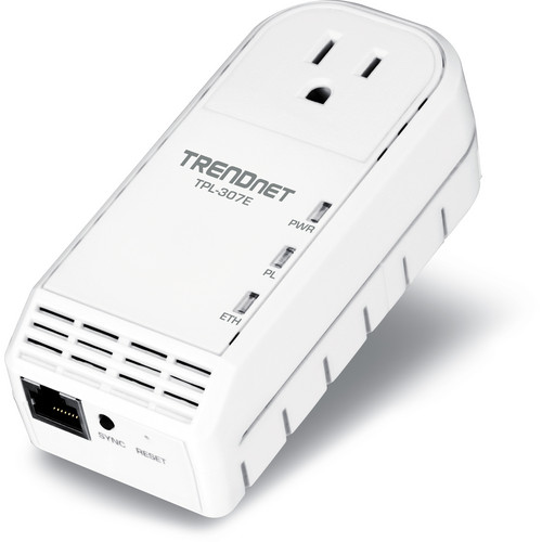 TRENDnet 200Mbps Powerline AV Adapter with Bonus Outlet