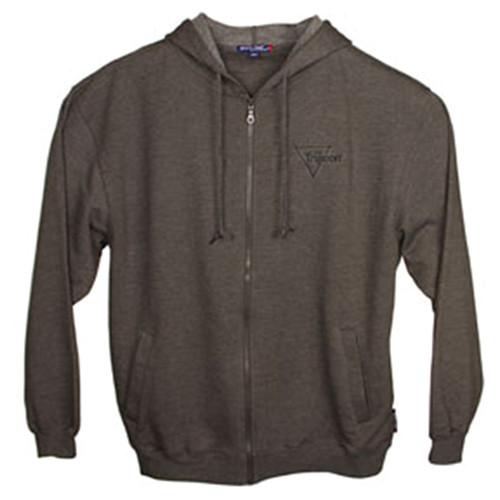 Trijicon Fleece Full-Zip Hooded Sweatshirt - Gray w/Trijicon Logo