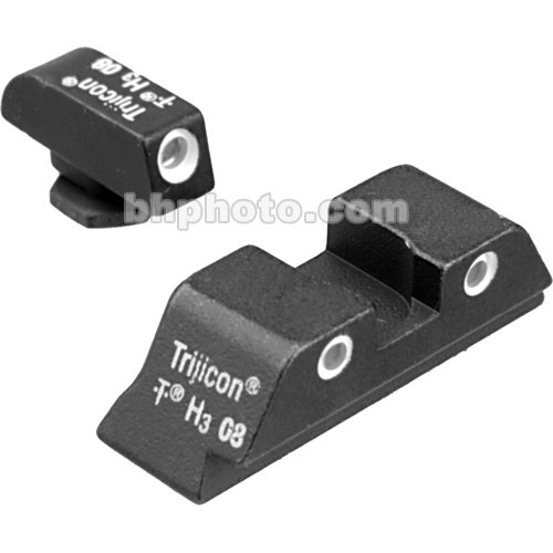 Trijicon Glock 3 Dot Front & High Rear Bright & Tough Night Sight Set