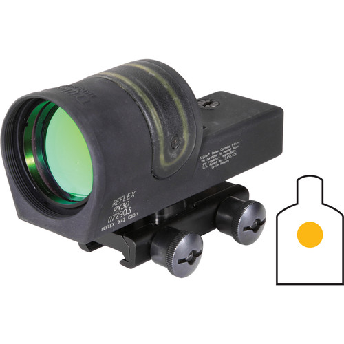 Trijicon 1x42 RX30 Reflex Sight with TA51 Mount (6.5 MOA Amber Dot Reticle)