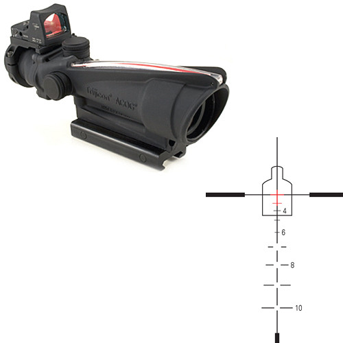 Trijicon 3.5x35 ACOG Riflescope & 3.25 MOA Red Dot RMR Kit (Red Crosshair .223 Ballistic Reticle, Matte Black)