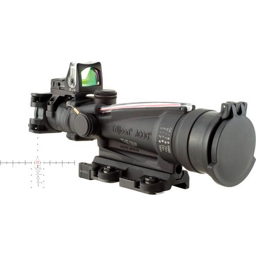 Trijicon 3.5x35 ACOG Riflescope & 9 MOA RMR Kit (Red Horseshoe-Dot M249 Reticle, Matte Black)
