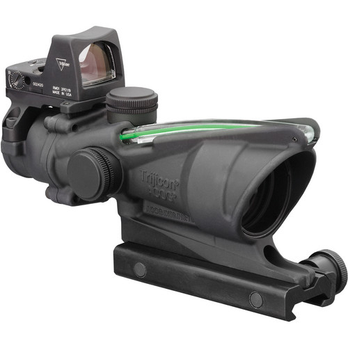 Trijicon 4x32 ACOG Riflescope & 3.25 MOA RMR Sight Kit (Dual Illuminated Green Crosshair .223 Ballistic Reticle)