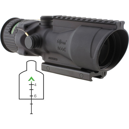 Trijicon TA648-G ACOG 6 x 48mm Scope with Dual-Illuminated Green Chevron Reticle