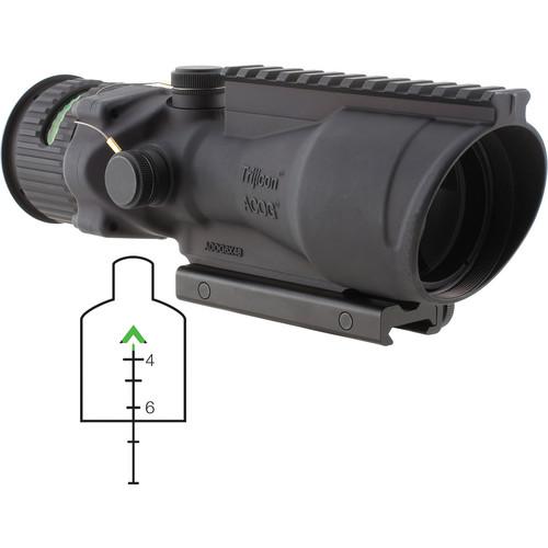 Trijicon TA648-G ACOG 6 x 48mm Scope with Dual-Illuminated Green Chevron Reticle