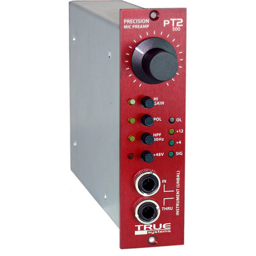 True Systems PT2-500 - Microphone Preamp and Instrument DI Module