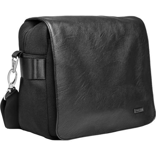 "UNDFIND One Bag 10"" Laptop and Camera Bag (Black, Leather)"