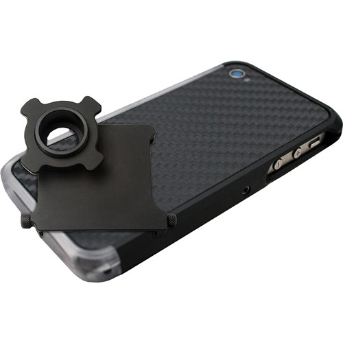 US NightVision iTelligent iPhone 4/4S Case & Adapter - Black Carbon Clear