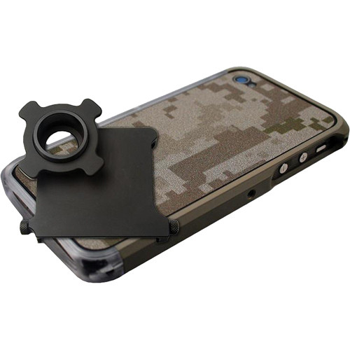 US NightVision iTelligent iPhone 4/4S Case & Adapter - Coyote Tan Clear Digital Camo