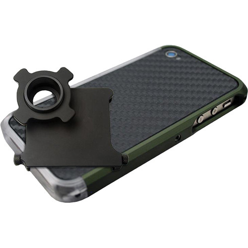 US NightVision iTelligent iPhone 4/4S Case & Adapter - OD Green Carbon Clear