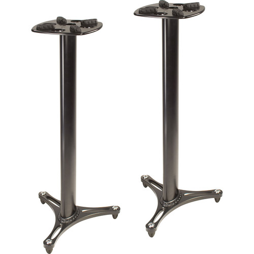 Ultimate Support MS-90/45 Second-Generation Column Studio Monitor Stands (Black, Pair)